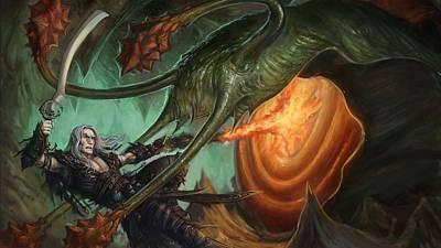 Fantasy Digital Art - Warrior by Maye Loeser