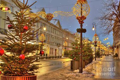 Christmas Market Photograph - Warsaw, Poland by Juli Scalzi