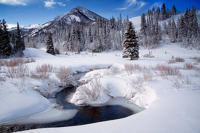 Wasatch Mountains In Winter Art Print by Utah Images