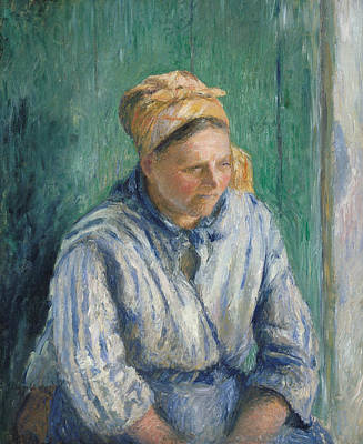 Painting - Washerwoman, Study by Camille Pissarro