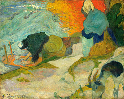 Washing Painting - Washerwomen In Arles by Paul Gauguin