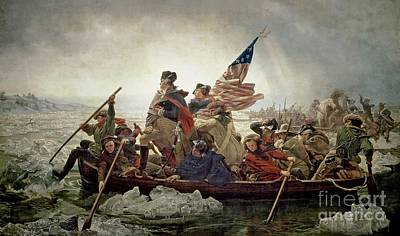 Military Uniform Painting - Washington Crossing The Delaware River by Emanuel Gottlieb Leutze