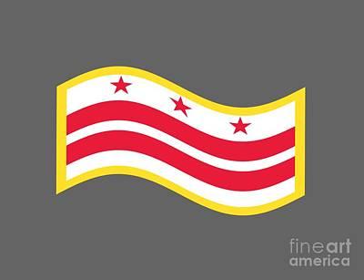 Washington D.c Mixed Media - Washington, D.c. Flag by Frederick Holiday