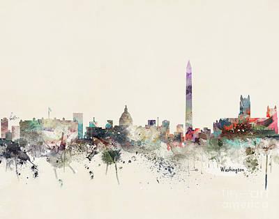 Painting - Washington Dc Skyline by Bri B