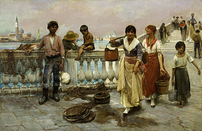 Painting - Water Carriers, Venice by Frank Duveneck