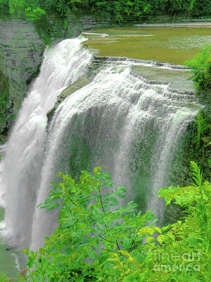 Photograph - Water Falls by Raymond Earley