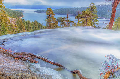 Photograph - Water Flow Above Emerald Bay by Marc Crumpler