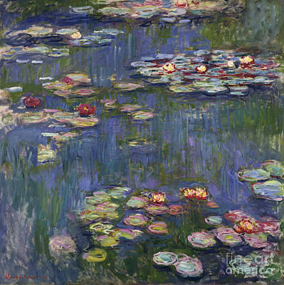 Claude Wall Art - Painting - Water Lilies, 1916 by Claude Monet