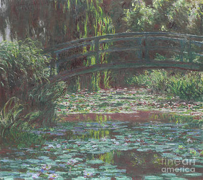 Water Lily Pond Art Print by Claude Monet