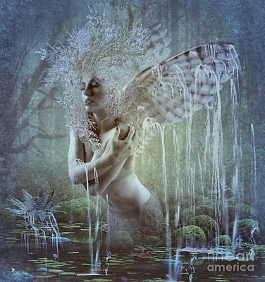Digital Art - Water Wings by Ali Oppy