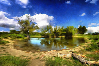 Painting - Watering Hole by Ricky Dean