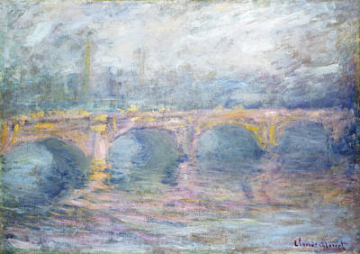Painting - Waterloo Bridge, London, At Sunset by Claude Monet