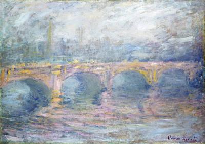 Painting - Waterloo Bridge, London, At Sunset by Claude Monet