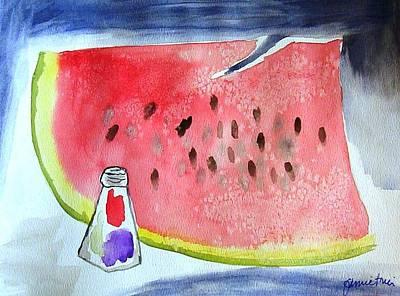 Watermelon Art Print by Jamie Frier