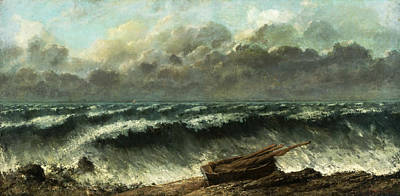 Painting - Waves by Gustave Courbet
