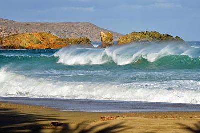 Photograph - Waves by Manolis Tsantakis