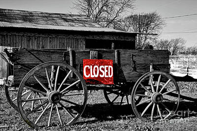 Photograph - We Are Closed by Diana Mary Sharpton
