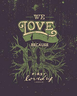 Jesus Drawing - We Love by Jessica Zint