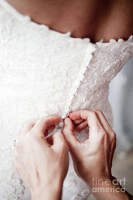 Hand Embroidery Photograph - Wedding Day by Kati Finell