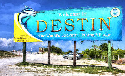 Photograph - Welcome To Destin by JC Findley