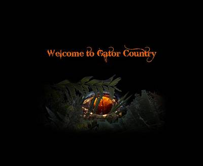 Photograph - Welcome To Gator Country by Mark Andrew Thomas