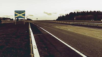 Photograph - Welcome To Scotland Road Sign B by Jacek Wojnarowski