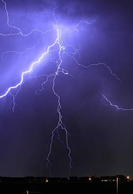 Photograph - West Jordan Lightning 4 by Paul Marto