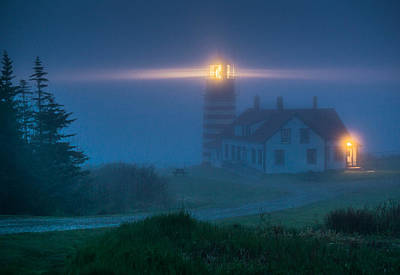 West Quoddy Lighthouse  Art Print by Trace Kittrell
