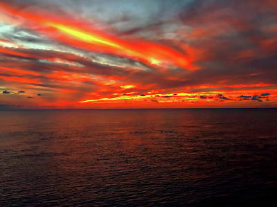 Photograph - Western Caribbean Sunset by Anthony Dezenzio