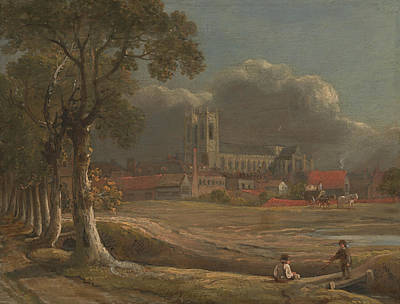Westminster Abbey Wall Art - Painting - Westminster Abbey From Tothill Fields by John Varley