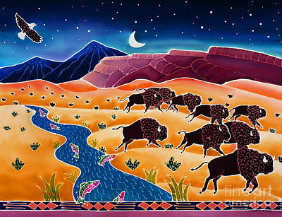 Wyoming Painting - Where The Buffalo Roam by Harriet Peck Taylor