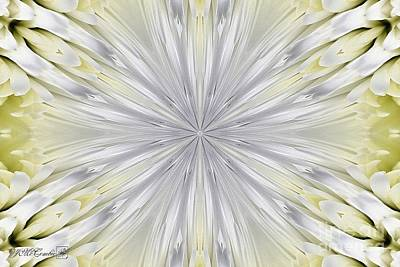 Painting - White Arctic Queen Kaleidoscope by J McCombie
