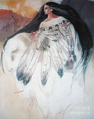 Pastel - White Buffalo Calf Woman by Pamela Mccabe