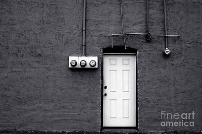 Photograph - White Door On Side Of Building by Jim Corwin