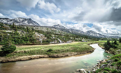 Photograph - White Pass Yukon British Columbia Between Alaska And Canada by Alex Grichenko