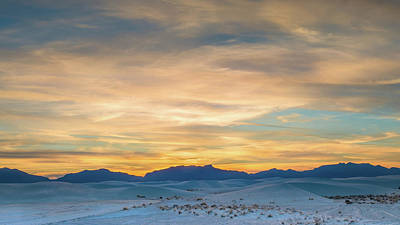 White Sands Wall Art - Photograph - White Sands Sunset by Joseph Smith
