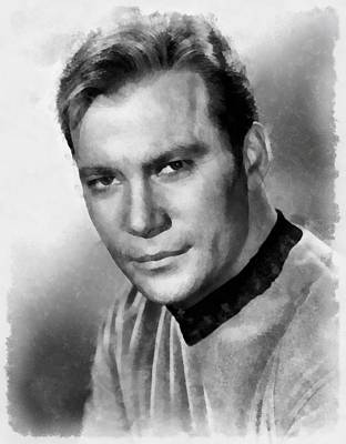 Kirk Painting - William Shatner By John Springfield by John Springfield