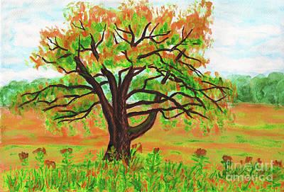 Painting - Willow Tree, Painting by Irina Afonskaya