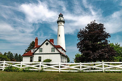 Photograph - Wind Point Lighthouse by Randy Scherkenbach