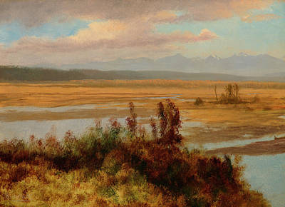 Luminism Painting - Wind River Country by Albert Bierstadt