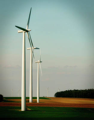 Photograph - Wind Turbines by Bruno Glatsch