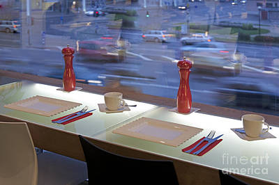 Window Seating In An Upscale Cafe Art Print