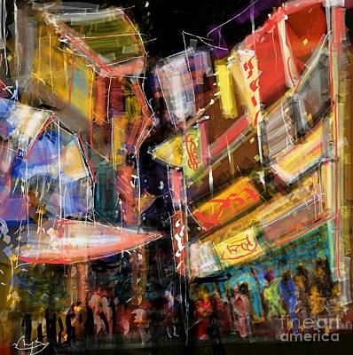 Digital Art - Window Shoppers by Subrata Bose