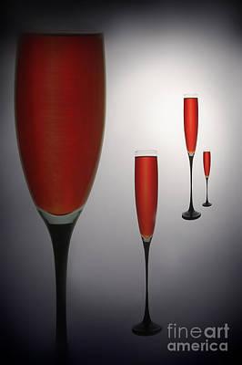 Wine Glasses With Red Wine Art Print by   larisa Fedotova