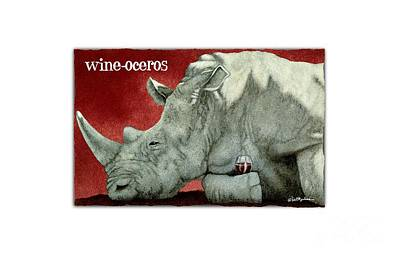 Painting - Wine-oceros by Will Bullas