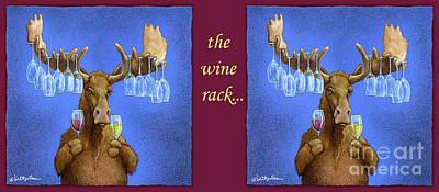 Wine Rack Painting - Wine Rack... by Will Bullas