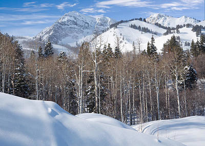 Winter In The Wasatch Mountains Of Northern Utah Art Print by Utah Images