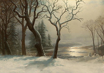 Yosemite Painting - Winter In Yosemite by Mountain Dreams