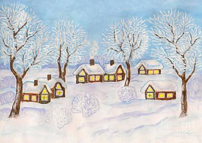 Winter Landscape, Painting Art Print