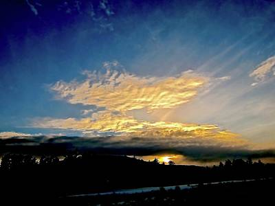 Sunset Photograph - Winter Light by Elizabeth Tillar